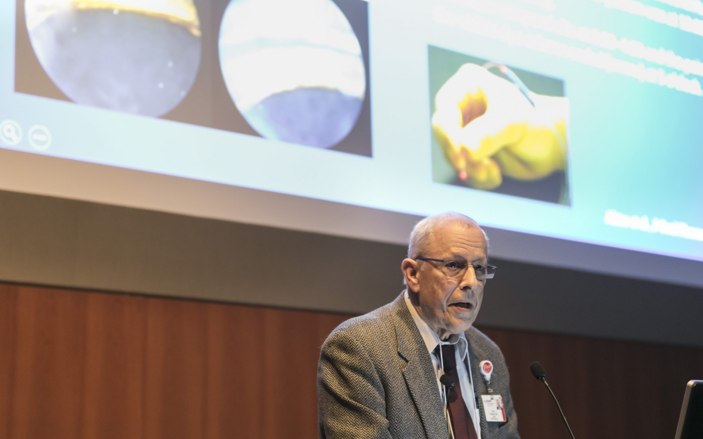 Paul Kaufman, MD presenting at the annual George Kambara, MD, Vision Science Symposium